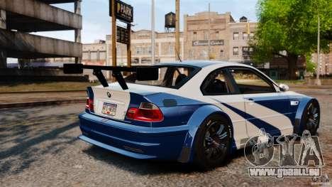 BMW M3 GTR MW 2012 für GTA 4 Innenansicht