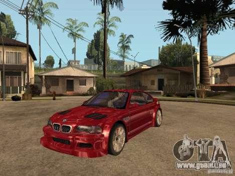 BMW M3 GTR Le Mans pour GTA San Andreas