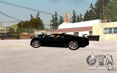 Bugatti Veyron für GTA San Andreas zurück linke Ansicht