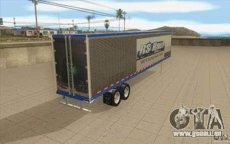 Anhänger für LKW Optimus Prime für GTA San Andreas zurück linke Ansicht