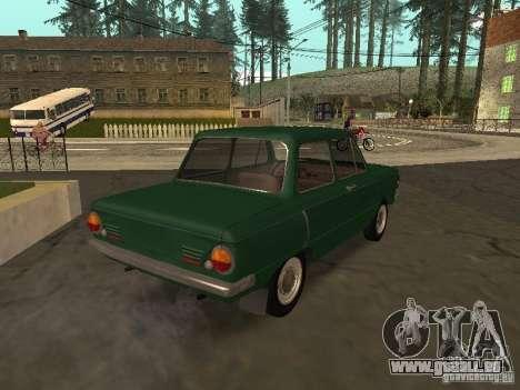 ZAZ 968 Drain für GTA San Andreas zurück linke Ansicht