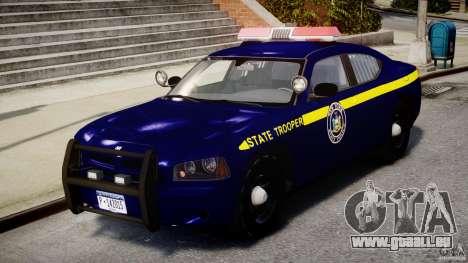 Dodge Charger NY State Trooper CHGR-V2.1M [ELS] pour GTA 4 est une gauche