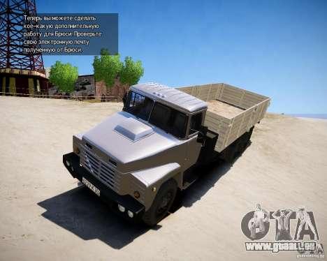 KrAZ 250 v 1.0 pour GTA 4 est une gauche