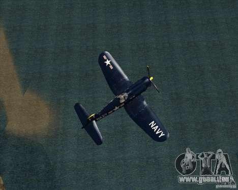 Aereo Corsair F4U1D für GTA San Andreas zurück linke Ansicht