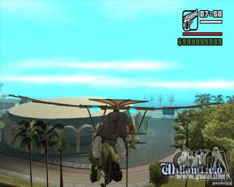 Machine volante de Leonardo da Vinci pour GTA San Andreas deuxième écran