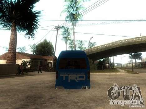 Toyota Commuter VIP Van pour GTA San Andreas sur la vue arrière gauche