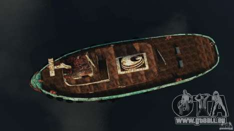Realistic Rusty Tugboat für GTA 4 rechte Ansicht