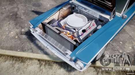 Dodge Dart 440 1962 pour GTA 4 est une vue de l'intérieur