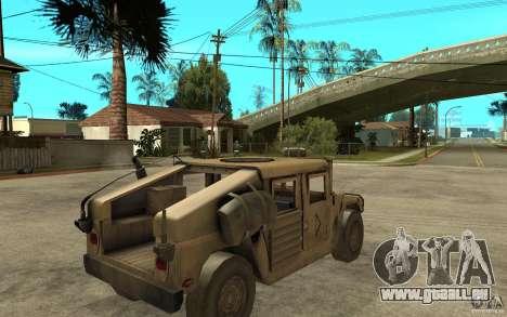 Hummer H1 War Edition für GTA San Andreas rechten Ansicht