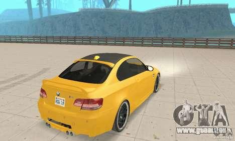 BMW M3 2008 Hamann v1.2 für GTA San Andreas rechten Ansicht