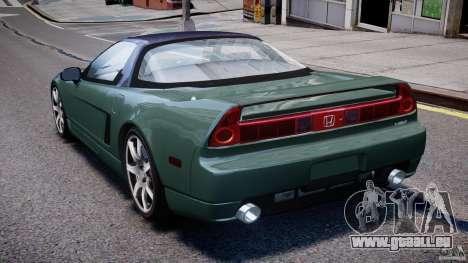 Honda NSX NA2 [Beta] pour GTA 4 Vue arrière de la gauche