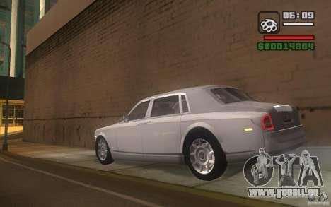 Rolls-Royce Phantom EWB pour GTA San Andreas sur la vue arrière gauche
