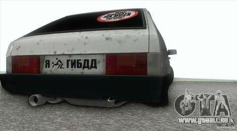 Vaz 2109 Hobo pour GTA San Andreas vue de droite