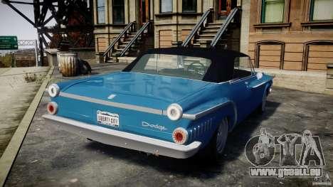 Dodge Dart 440 1962 pour GTA 4 Vue arrière de la gauche