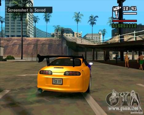 Toyota Supra Drift pour GTA San Andreas sur la vue arrière gauche