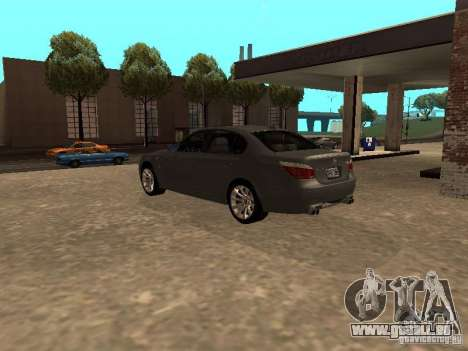 BMW M5 E60 2009 v2 für GTA San Andreas zurück linke Ansicht