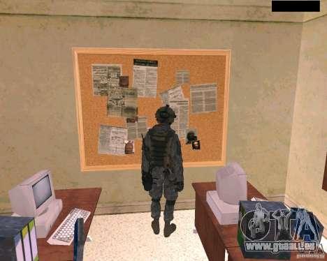 Peau du soldat de Cod MW 2 pour GTA San Andreas quatrième écran
