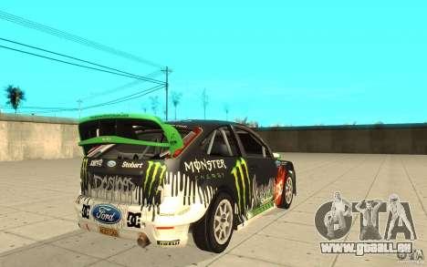 Ford Focus RS WRC 08 pour GTA San Andreas vue de côté