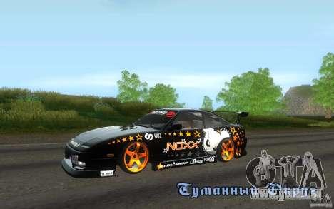 Nissan Silvia RPS13 Noxx pour GTA San Andreas laissé vue