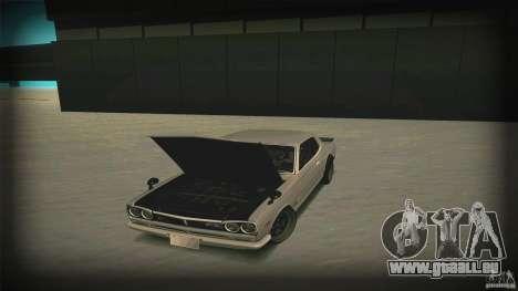 Nissan Skyline 2000GT-R JDM Style pour GTA San Andreas vue de dessous