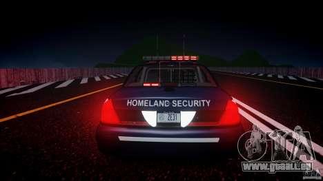 Ford Crown Victoria Homeland Security [ELS] pour GTA 4 vue de dessus