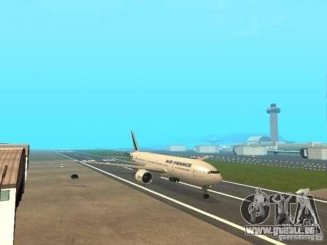 Boeing 777-200 Air France für GTA San Andreas linke Ansicht
