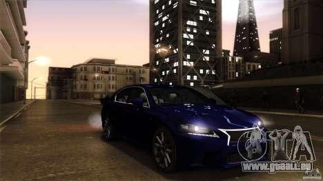 Lexus GS350F Sport 2013 pour GTA San Andreas vue de droite
