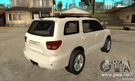 Toyota Sequoia pour GTA San Andreas vue de droite