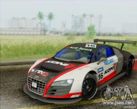 Audi R8 LMS GT3 pour GTA San Andreas vue de côté