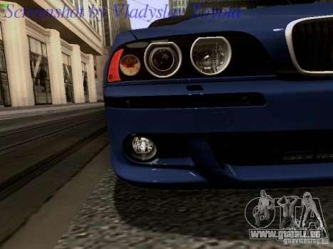 BMW E39 M5 2004 pour GTA San Andreas salon