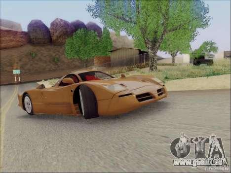 Nissan R390 Road Car v1.0 für GTA San Andreas Rückansicht