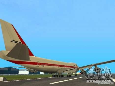 Boeing 747-100 für GTA San Andreas rechten Ansicht