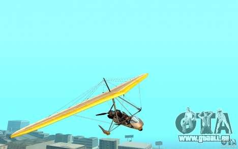Drachenfliegen für GTA San Andreas zurück linke Ansicht