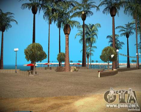 New textures beach of Santa Maria pour GTA San Andreas troisième écran