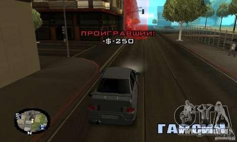 Courses de rue pour GTA San Andreas huitième écran