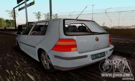 Volkswagen Golf 4 1.6 pour GTA San Andreas laissé vue