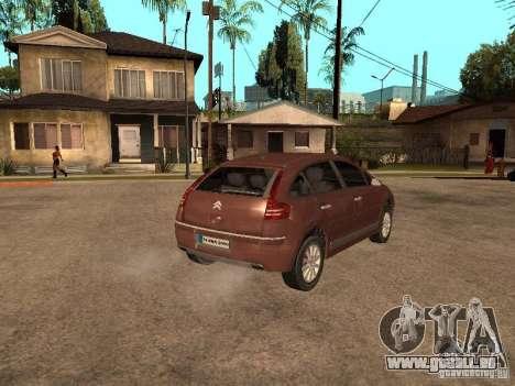 Citroen C4 pour GTA San Andreas laissé vue