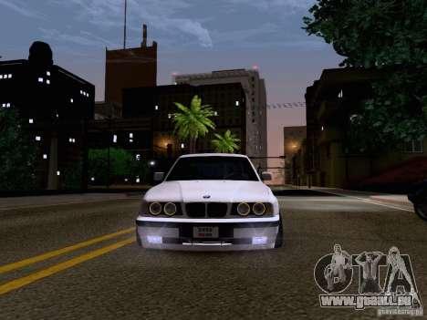 BMW M5 E34 Stance für GTA San Andreas Innenansicht