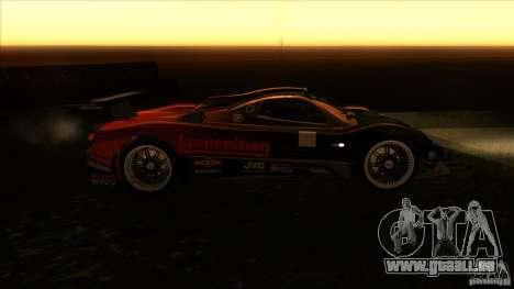 Pagani Zonda R pour GTA San Andreas vue arrière