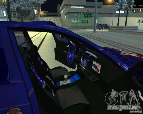 Skoda Octavia III Tuning für GTA San Andreas Innenansicht