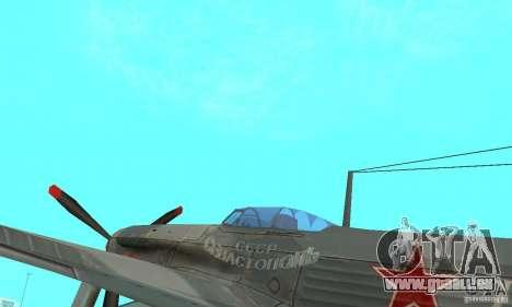 Die Jak-9 in der Lackierung, Sewastopol für GTA San Andreas Rückansicht