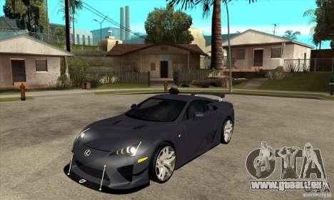 Lexus LFA 2010 v2 für GTA San Andreas