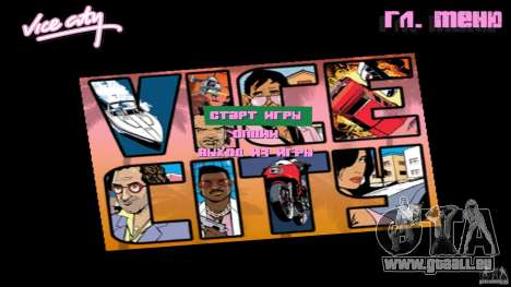 Menue Mod Beta für GTA Vice City