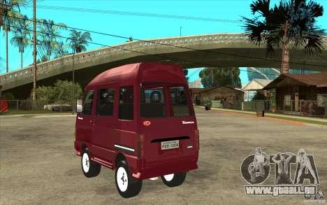 KIA Towner pour GTA San Andreas sur la vue arrière gauche