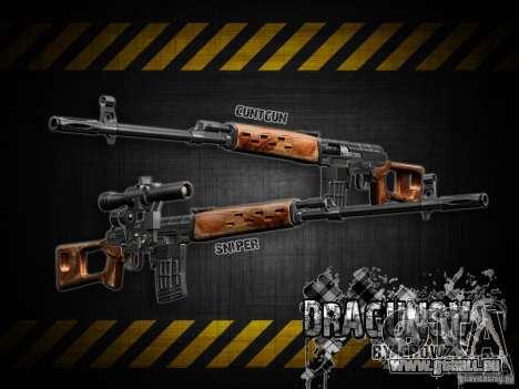 Dragunov Scharfschütze-Gewehr-V 2.0 für GTA San Andreas