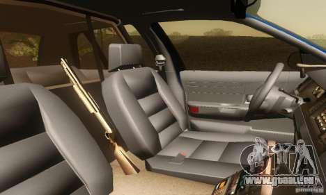 Ford Crown Victoria Michigan Police pour GTA San Andreas sur la vue arrière gauche