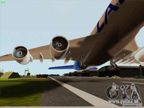 Airbus A380-800 Lan Airlines pour GTA San Andreas vue intérieure
