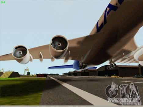 Airbus A380-800 Lan Airlines für GTA San Andreas Innenansicht