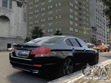BMW 550i F10 pour GTA 4 Vue arrière