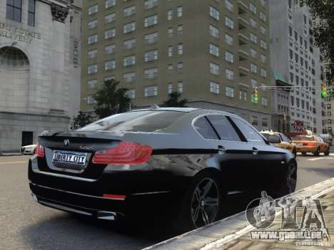 BMW 550i F10 für GTA 4 Rückansicht